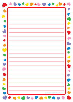 Large Notepad - Heart Border