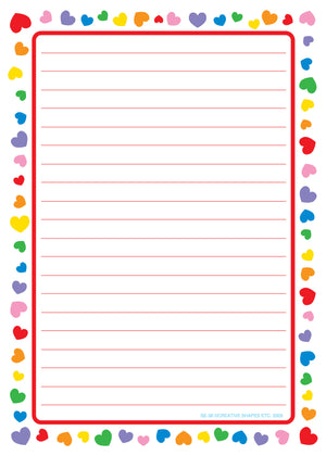 Large Notepad - Heart Border - Creative Shapes Etc.