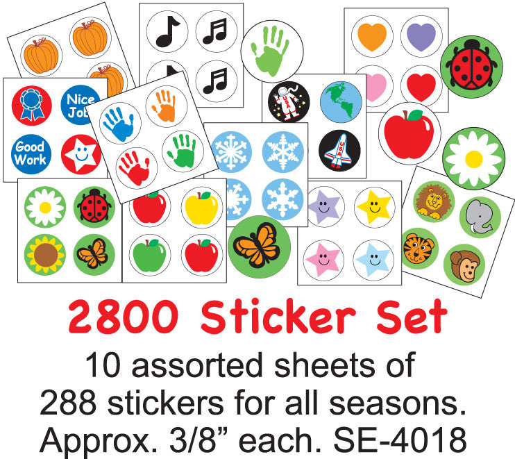 Classroom Incentive Sticker Set - Creative Shapes Etc.