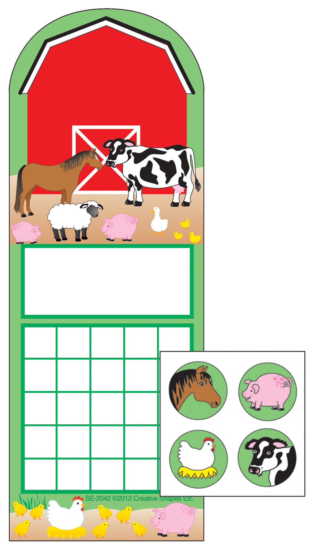 Incentive Sticker Set - Farm - Creative Shapes Etc.