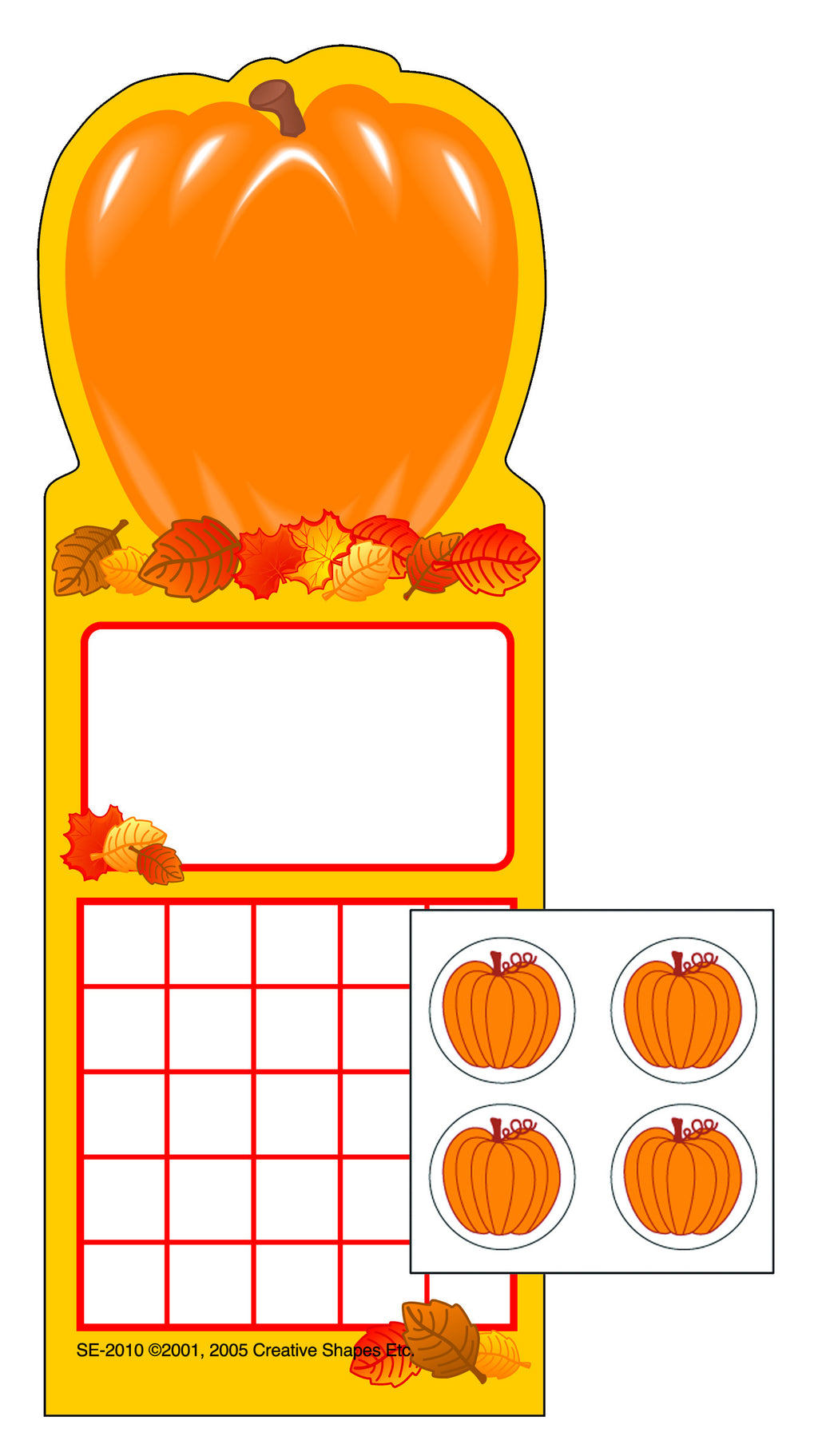 Incentive Sticker Set - Pumpkin - Creative Shapes Etc.