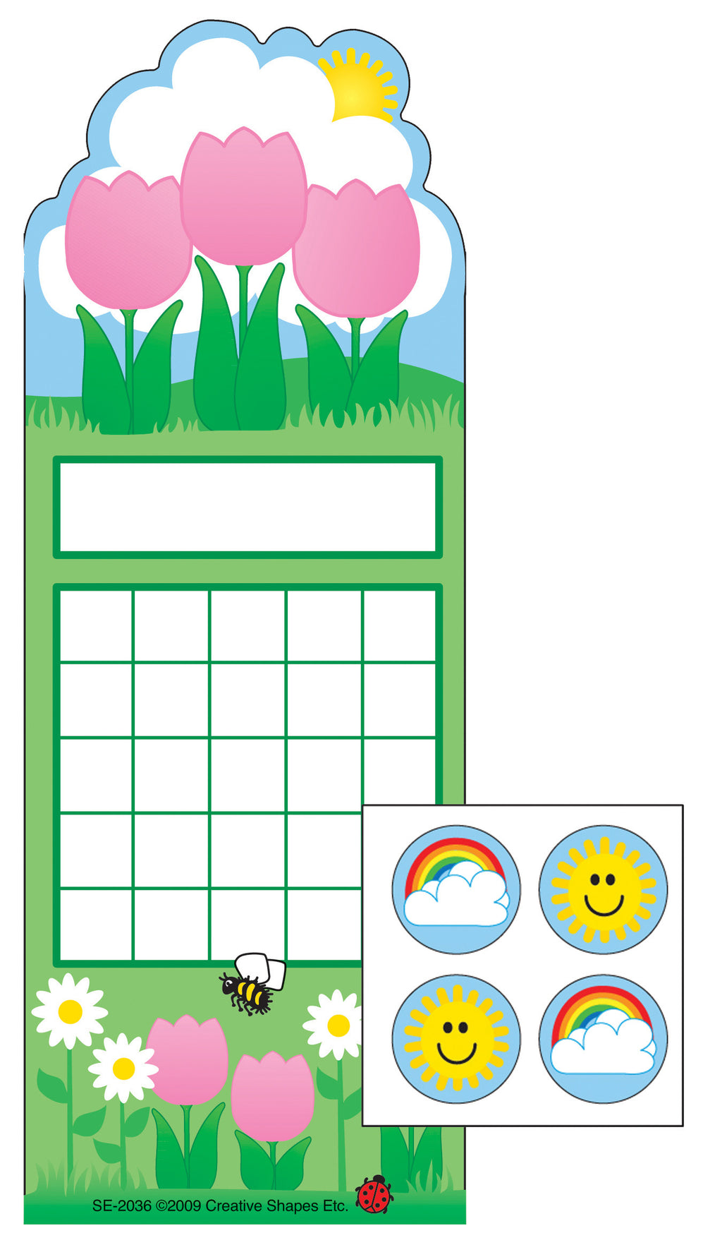 Incentive Sticker Set - Spring Flowers - Creative Shapes Etc.