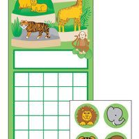 Incentive Sticker Set - Zoo - Creative Shapes Etc.