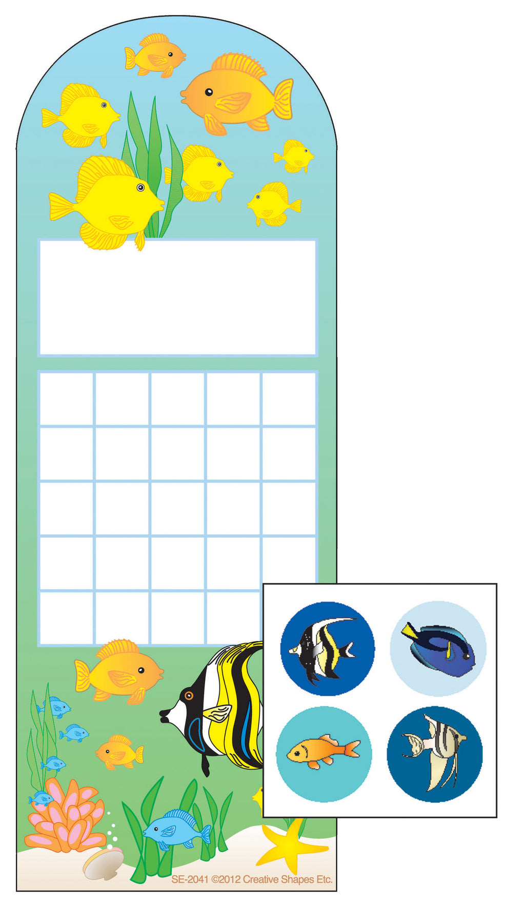 Incentive Sticker Set - Aquarium - Creative Shapes Etc.