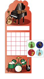 Incentive Sticker Set - Musical Instruments - Creative Shapes Etc.