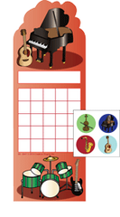 Incentive Sticker Set - Musical Instruments