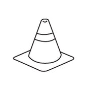 Incentive Stamp - Construction Cone - Creative Shapes Etc.