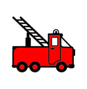 Incentive Stamp - Fire Truck - Creative Shapes Etc.