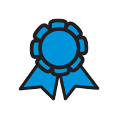 Incentive Stamp - Blue Ribbon - Creative Shapes Etc.