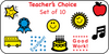 Incentive Stamp Set - Teacher's Choice - Creative Shapes Etc.