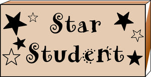 Teacher's Stamp - Star Student - Creative Shapes Etc.