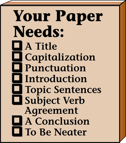 Picture of Teacher's Stamp - Your Paper Needs