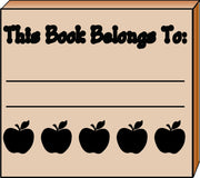 Teacher's Stamp - Apple Book Belongs