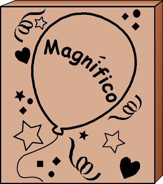 Teacher's Stamp Spanish - Magnifico (Terrific)