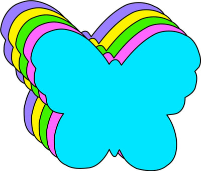 Small Assorted Color Creative Foam Cut-Outs - Butterfly