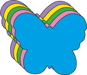 "3"" Butterfly Assorted Color Creative Cut-Outs, 31 cut-outs in a pack for Spring, Summer Classroom Garden Kids' School Craft Projects"