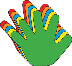 Hand Assorted Colors Creative Cut-Outs- 3""