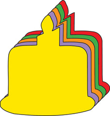 Small Assorted Color Creative Foam Cut-Outs - Birthday Cake