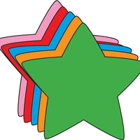 Small Assorted Color Creative Foam Cut-Outs - Star
