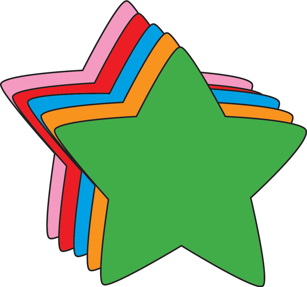 Small Assorted Color Creative Foam Cut-Outs - Star - Creative Shapes Etc.