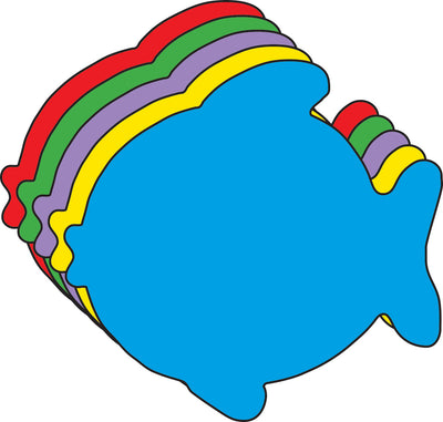Fish Foam Assorted Color Creative Cut-Outs- 3""