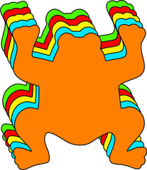 Small Assorted Color Creative Foam Cut-Outs - Frog