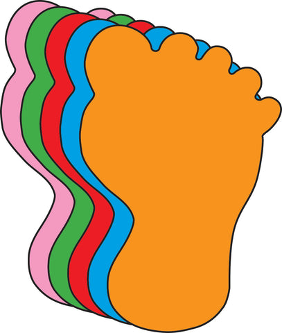Picture of Small Assorted Color Creative Foam Cut-Outs - Foot