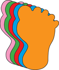 Small Assorted Color Creative Foam Cut-Outs - Foot