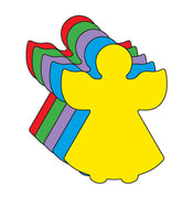 Small Assorted Color Creative Foam Cut-Outs - Angel - Creative Shapes Etc.