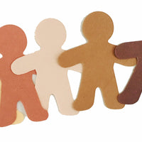 "3"" Person Multicultural Creative Cut-Outs, 31 Cut-Outs in a Pack for Around The World, Unity in Diversity Kids' Craft Projects for School/Classroom"