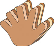 Small Multicultural Cut-Out - Hand