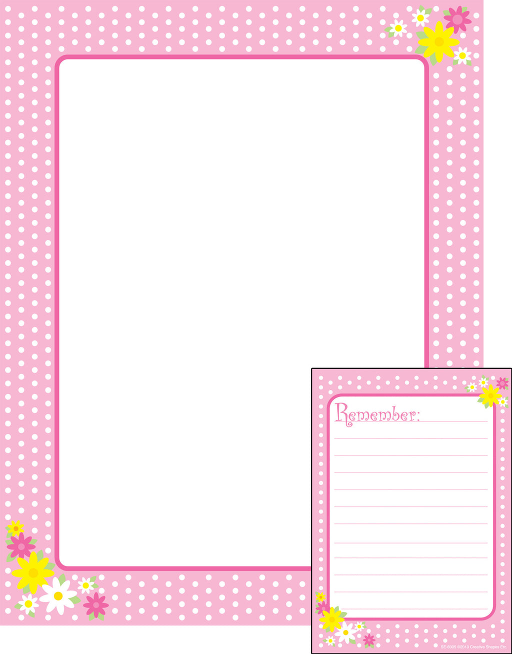 Notes & Quotes Writing Set - Remember Polka Dots - Creative Shapes Etc.