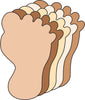 Small Multicultural Cut-Out - Foot