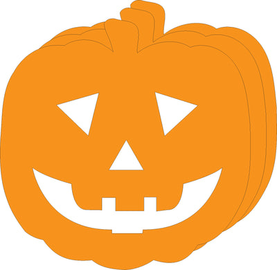 Small Single Color Creative Foam Cut-Outs - Jack O Lantern