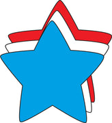 "Star Tri-Color Creative Cut-Outs- 3"" - Creative Shapes Etc."