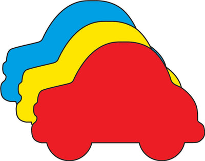 "Car Tri-Color Creative Cut-Outs- 3"" - Creative Shapes Etc."