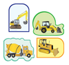 Mini Accents - Construction Variety Pack - Creative Shapes Etc.