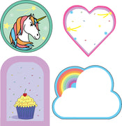 Mini Accents - Cupcakes and Rainbows Variety Pack