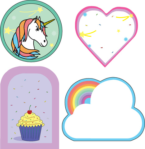 Picture of Mini Accents - Cupcakes and Rainbows Variety Pack
