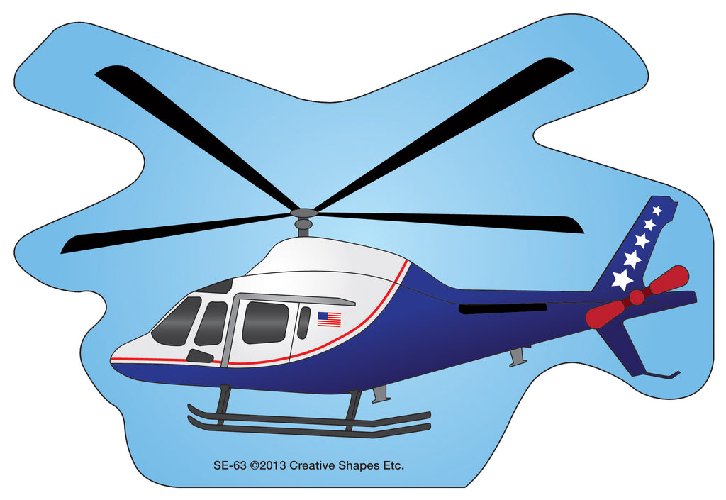 Large Notepad - Helicopter - Creative Shapes Etc.