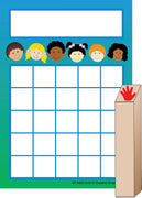 Kids Progress Pad/ Stamps Set - Creative Shapes Etc.