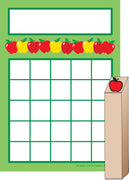 Progress Pad/ Stamps Set - Apples - Creative Shapes Etc.