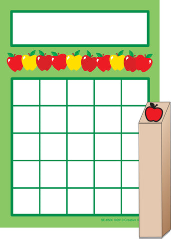 Picture of Progress Pad/ Stamps Set - Apples