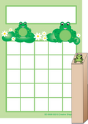 Progress Pad/ Stamp Set - Frogs