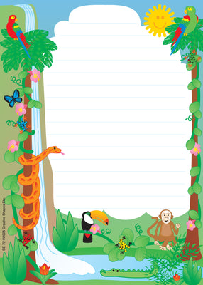 Large Notepad - Rainforest / Lined - Creative Shapes Etc.