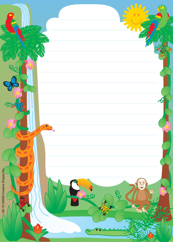 Picture of Large Notepad - Rainforest / Lined