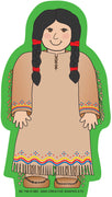 Mini Notepad - Native American Girl - Creative Shapes Etc.