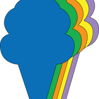 Large Assorted Color Creative Foam Cut-Outs - Ice Cream Cone - Creative Shapes Etc.