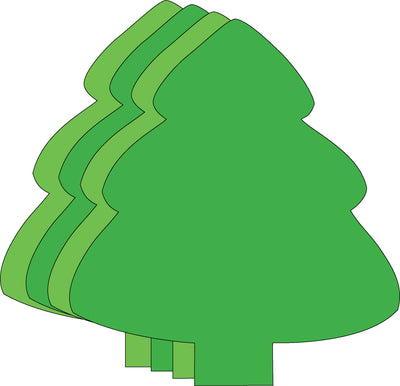 Small Assorted Color Creative Foam Cut-Outs - Assorted Green Evergreen Tree - Creative Shapes Etc.
