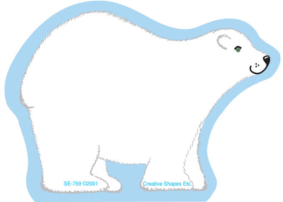 Mini Notepad - Polar Bear - Creative Shapes Etc.